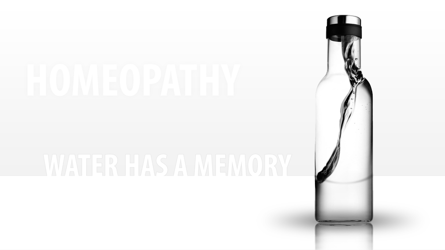 Omeopatia, ovvero la memoria dell'acqua... perché, oltre all'acqua, nel recipiente c'è proprio poco. (Image by NimKorko)