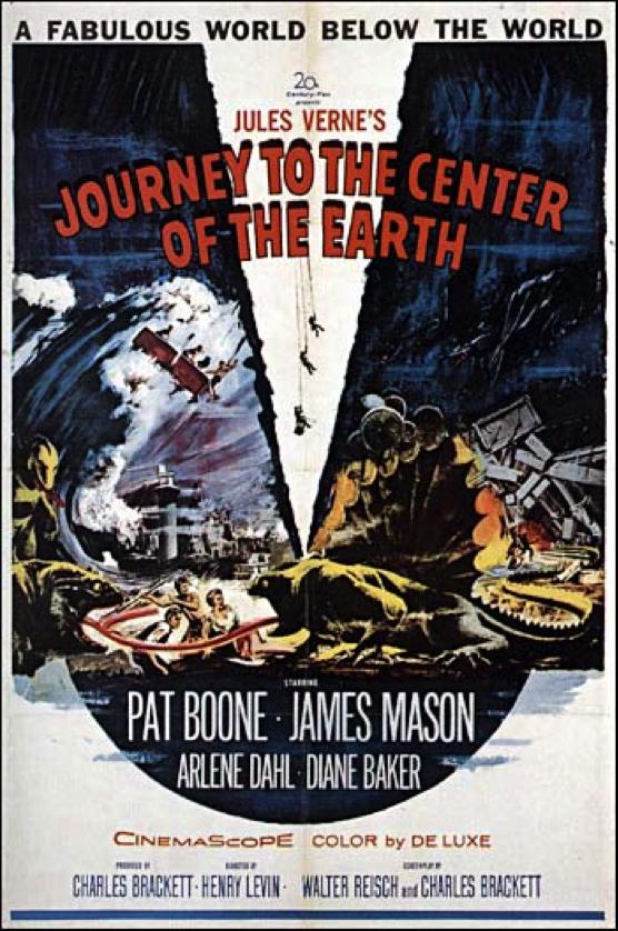 Jules Verne, prolifico autore di fantascienza (la Guerra dei mondi, l'uomo invisibile, dalla Terra alla Luna), immagina un viaggio al centro della Terra nel suo romanzo del 1864, molto prima della teoria della deriva dei continenti e delle più rudimentali ipotesi sull'interno della terra.
