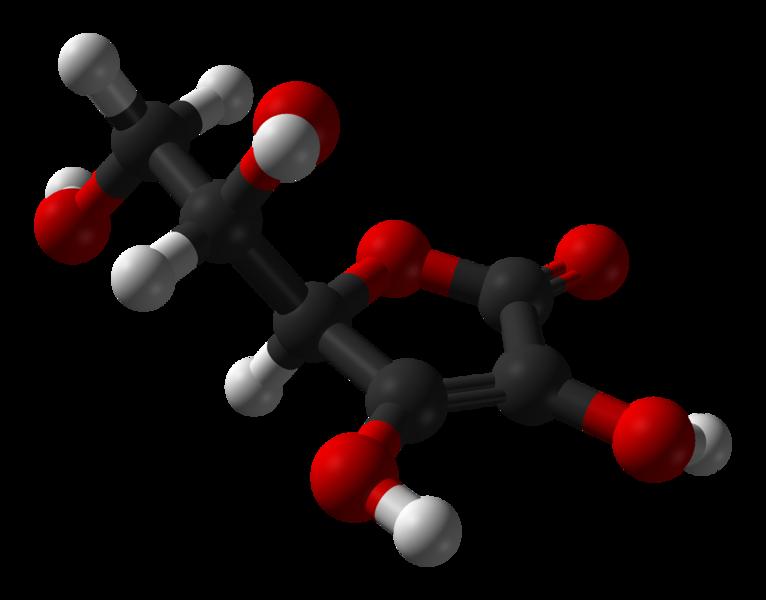 766px-Ascorbic-acid-from-xtal-1997-3D-balls