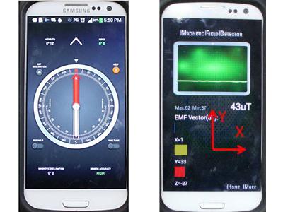 smartphone magnetometri