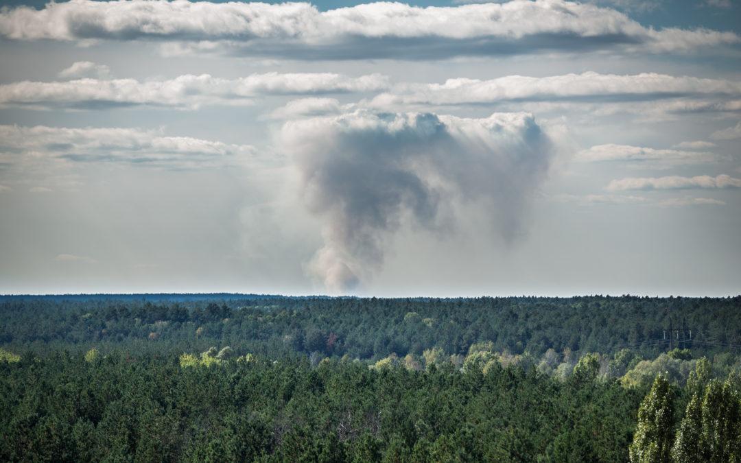 incendi nella foresta di Chernobyl